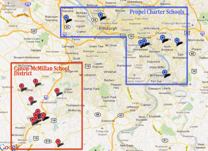 schools district map